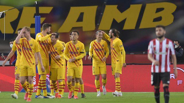 Messi et ses coéquipiers ont inscrit 4 buts en 12 minutes. [AFP]