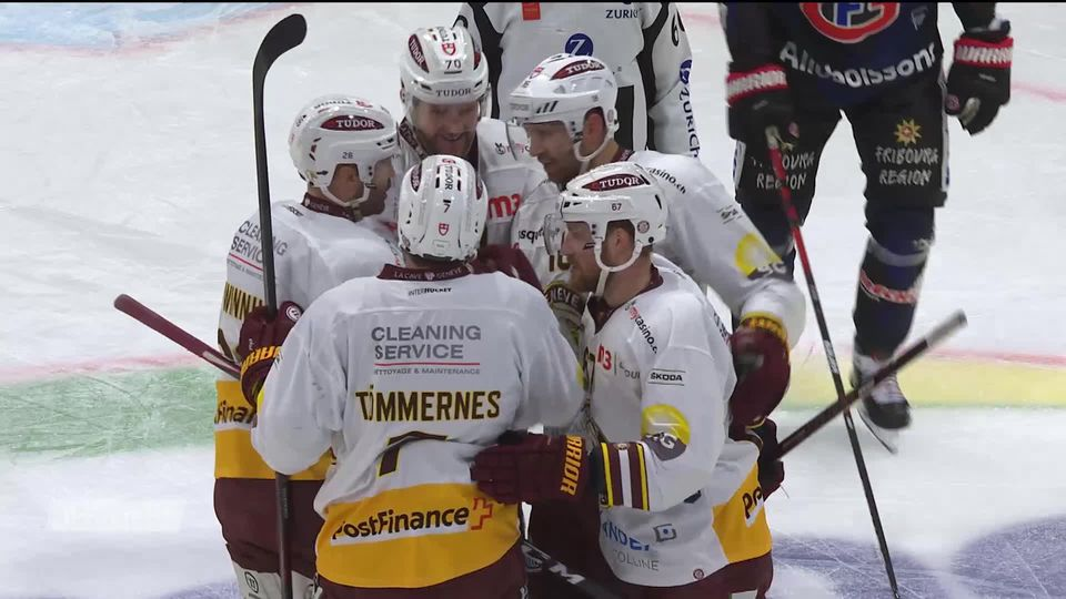1-4, Acte III, Fribourg - Genève (3-8): Genève s'impose nettement à Fribourg [RTS]