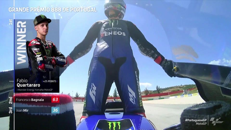 GP du Portugal (#3), MotoGP: Quartararo (ITA) s'impose devant Bagnaia (ITA) 2e et Mir (ESP) 3e [RTS]