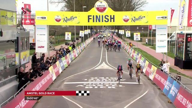 Valkenburg (NED), Amstel Gold Race: Wout van Aert (NEL) s'impose pour 2 petits centimètres ! [RTS]