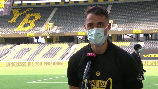 29e journée, Young Boys - Lugano (3-0): la joie de Vincent Sierro après la victoire bernoise [RTS]