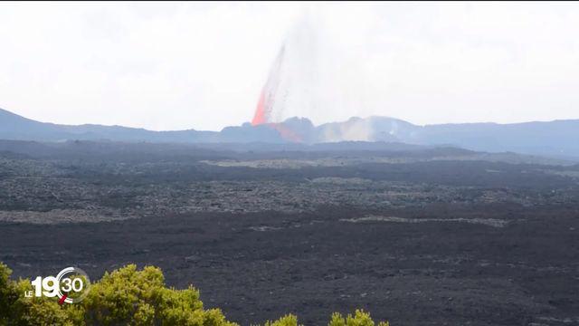 Le Piton de la Fournaise, sur l'île de la Réunion,, s'est réveillé: ce volcan attire toujours autant de passionnés [RTS]