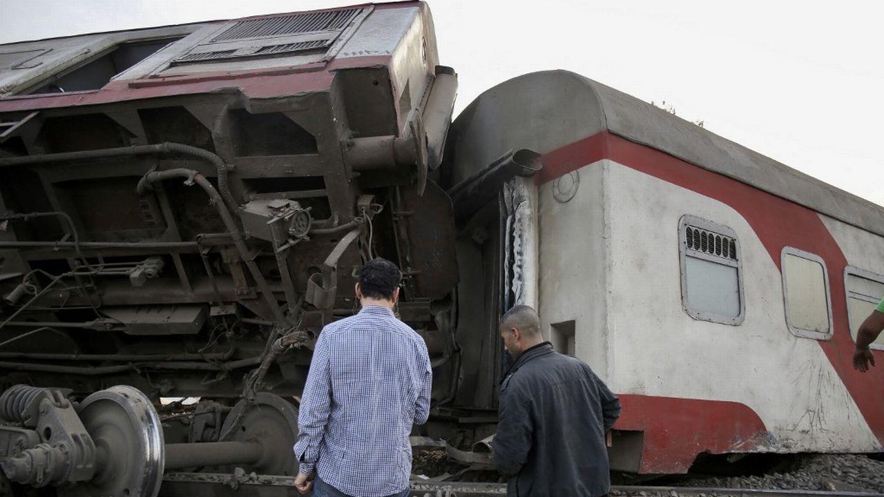 Un nouvel accident de train en Egypte fait 11 morts. [Ayman Aref - AFP]