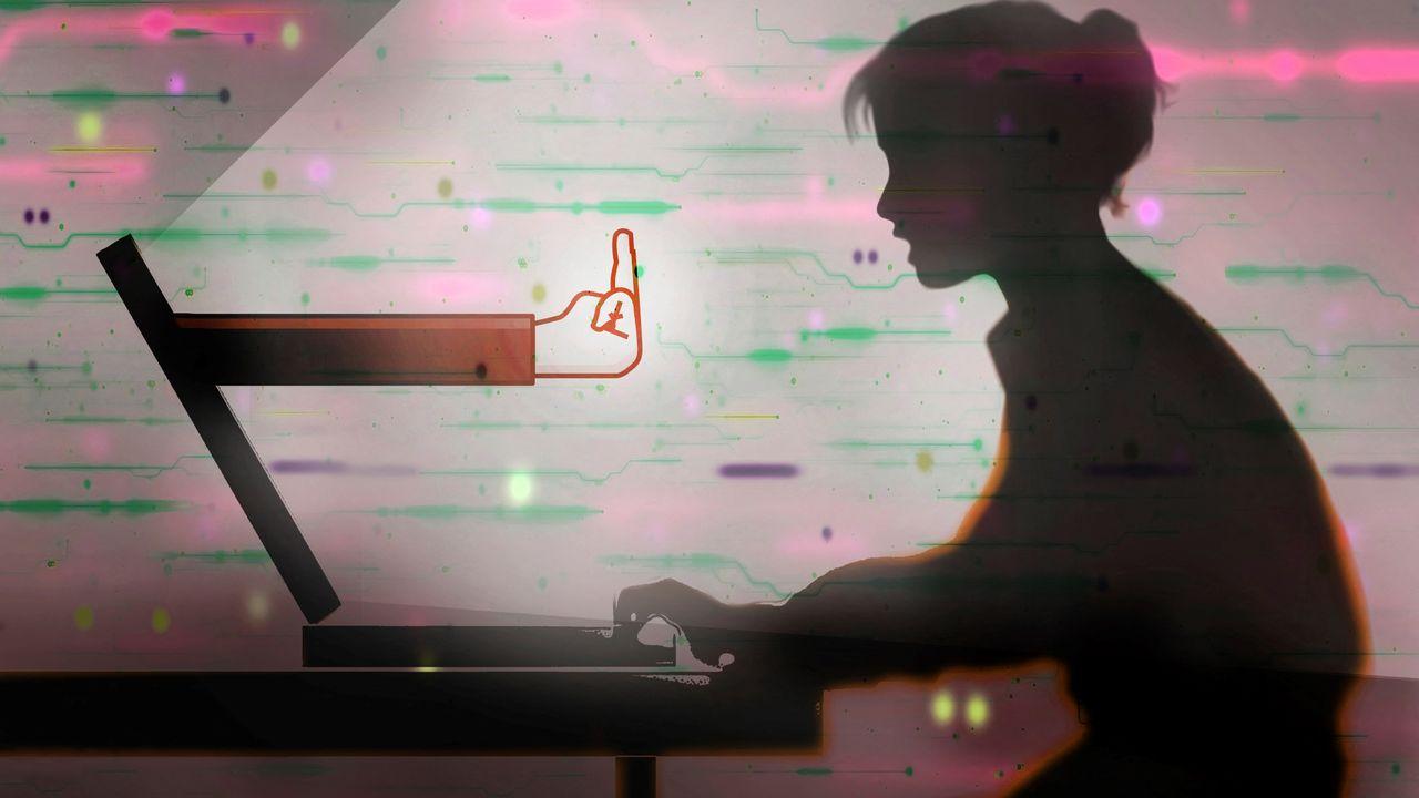 Comment limiter le cyberharcèlement et les attaques que subissent régulièrement les journalistes sur les réseaux sociaux? [Fanatic Studio / Gary Waters / SCIEN / FST / Science Photo Library - AFP]
