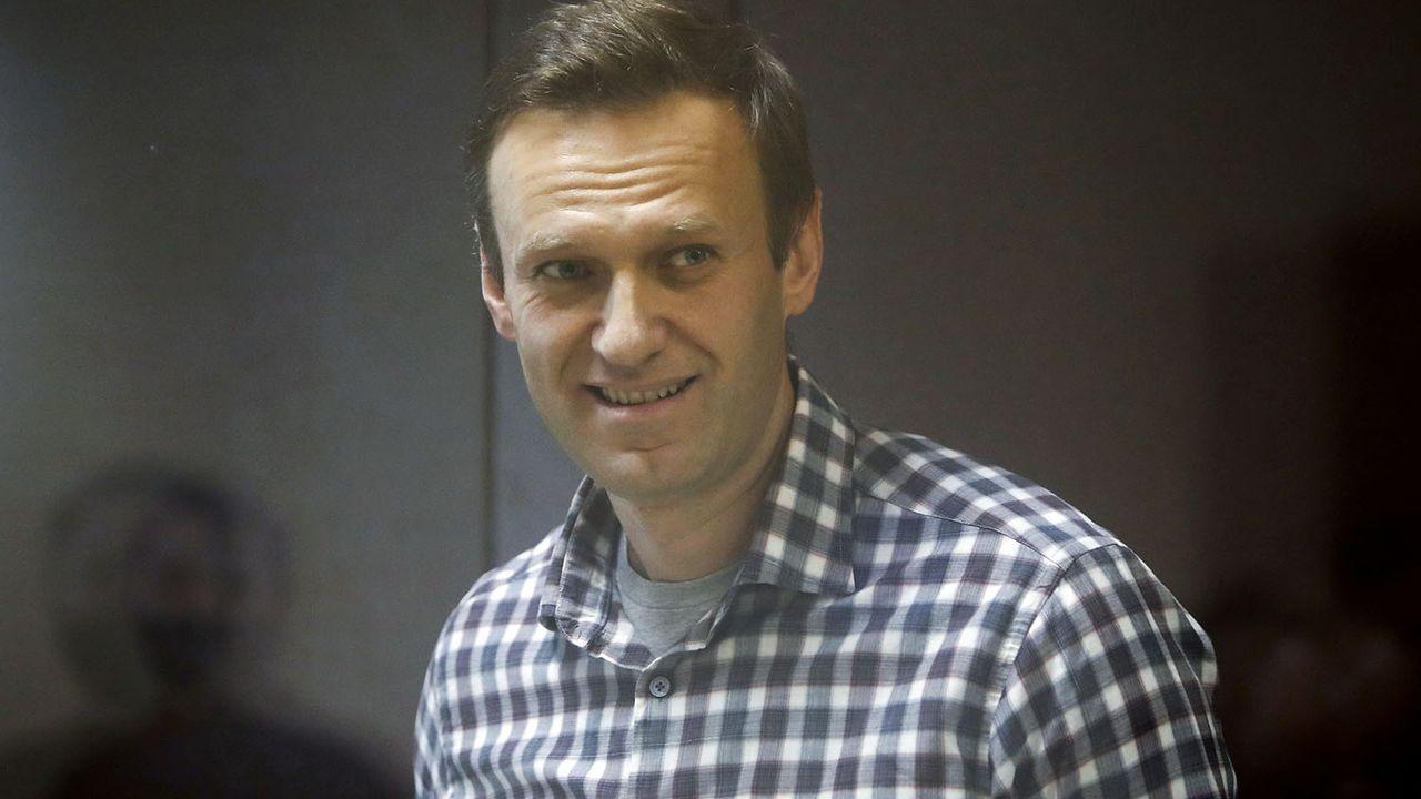 Alexeï Navalny lors d'une audience devant un tribunal de Moscou, 20.02.2021. [Maxim Shemetov - Reuters]