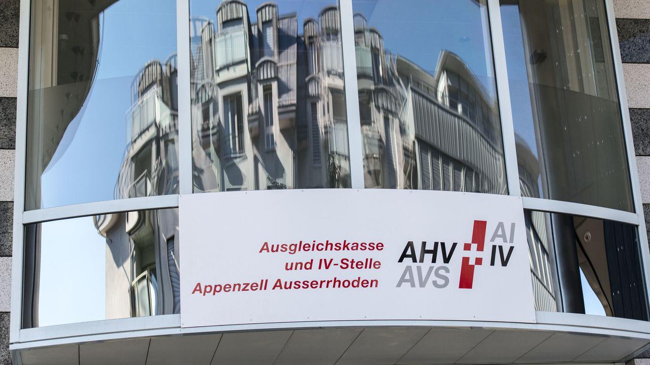 Bâtiment de l'AVS-AI à Herisau. [Christian Beutler - Keystone]