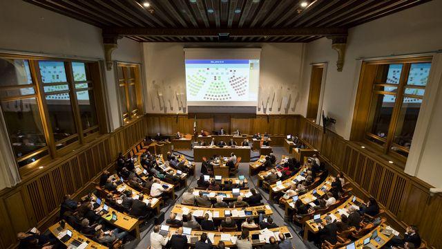 Le parlement neuchâtelois photographié en décembre 2016. [Jean-Christophe Bott - Keystone]