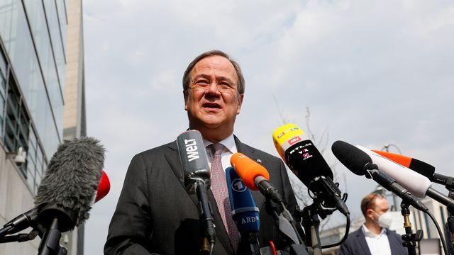 Le dirigeant conservateur Armin Laschet plébiscité par la CDU pour succéder à Angela Merkel. [Michele Tantussi - Reuters]