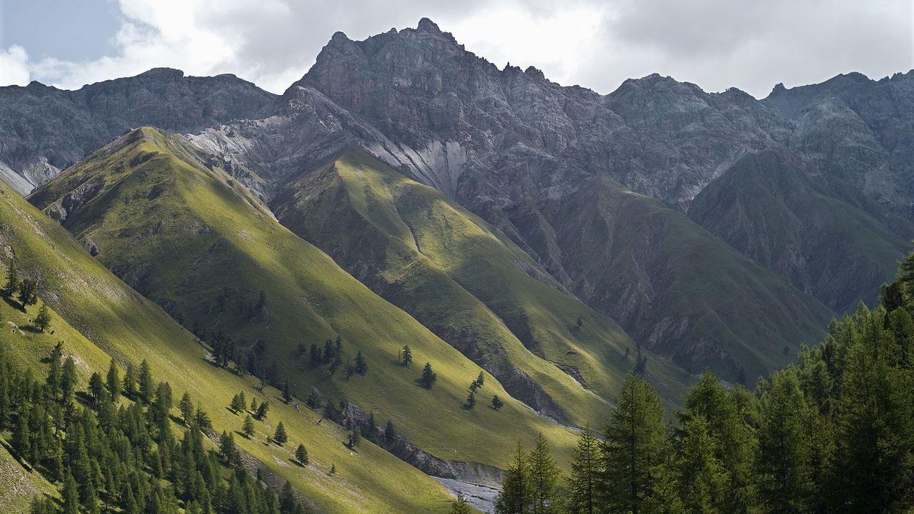 Vue du Parc national suisse en Engadine. [Gaëtan Bally - Keystone]