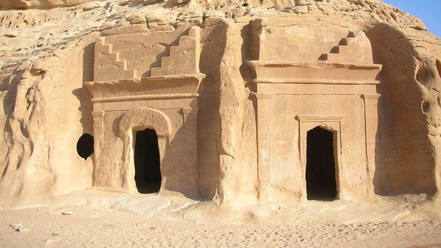 Site archéologique de Al-Hijr, ou la cité nabatéenne d'Hégra (Madain Salih, Arabie saoudite). [CC-BY-SA 3.0 WikiCommons / UNESCO]