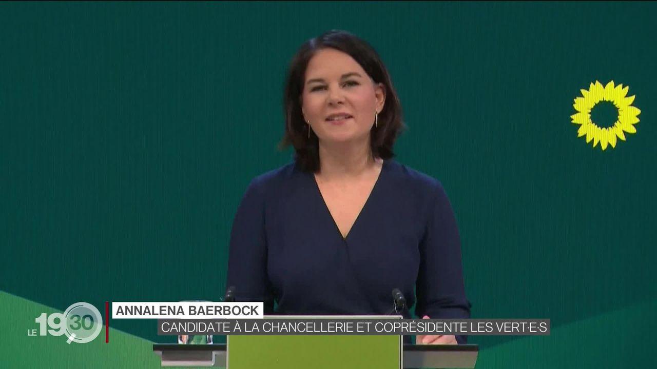 Succession d'Angela Merkel: le conservateur Armin Laschet et la Verte Annalena Baerbock en lice. [RTS]