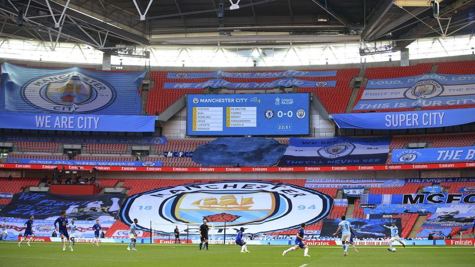 Manchester City renonce à joindre la nouvellement créée Super League, Chelsea devrait emboîter le pas. [Adam Davy, Pool via AP - Keystone]