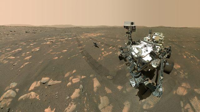 Le rover de la NASA Perseverance a atterri sur la planète rouge le 18 février 2020. [NASA/JPL-Caltech - EPA/Keystone]