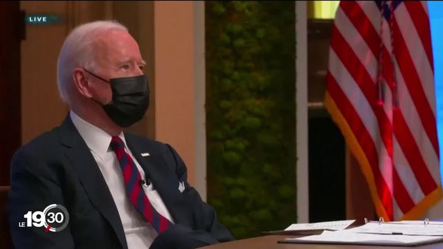 La lutte contre le changement climatique sort renforcée du sommet international convoqué par Joe Biden. [RTS]