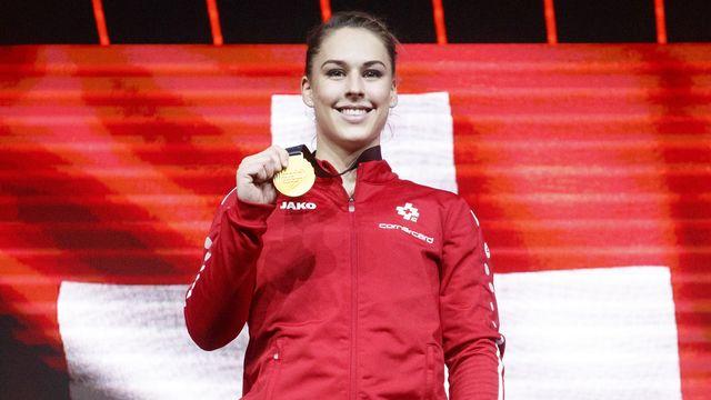 Giulia Steingruber, une athlète en or. [Alexandra Wey - Keystone]