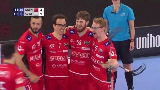 Superfinale messieurs, Floorball Köniz - SV Wiler-Ersigen (3-2) : Köniz s'impose sur la plus petite des marges [RTS]