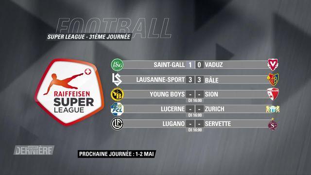Football, Super League, 31e journée: résultats & classement [RTS]