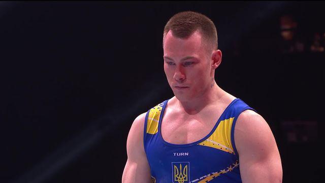 Finales par engins, cheval d'arçon: l'Ukrainien Igor Radivilov s'impose avec une note de 15.000 [RTS]