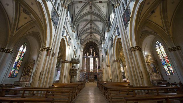 Cathédrale de Fribourg.  [JEAN-CHRISTOPHE BOTT - KEYSTONE]