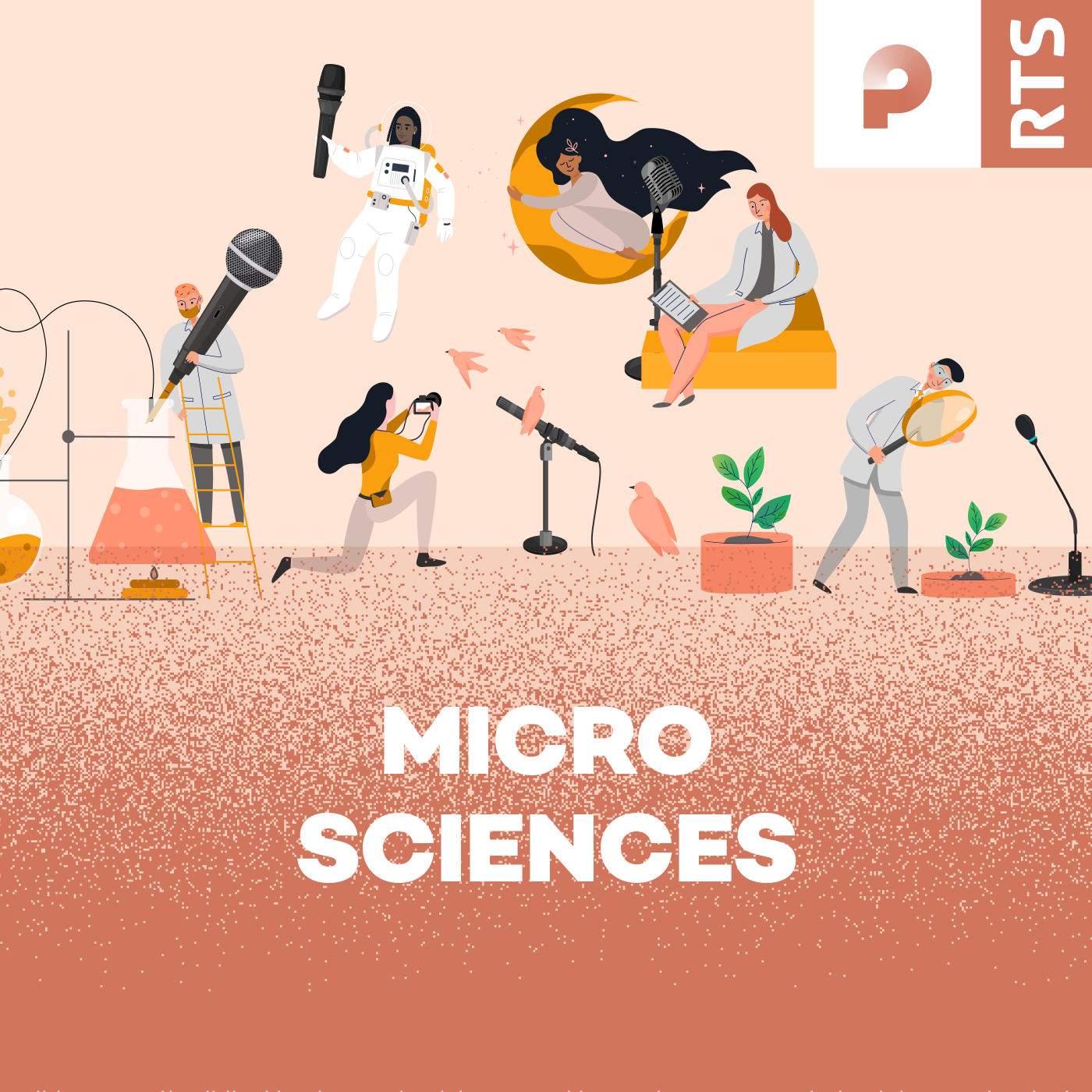 Logo podcast - Micro sciences [RTS - RTS]