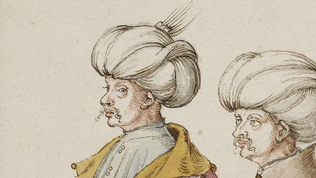 Deux Turcs de haut rang et leur esclave noir d'Albrecht Durer. [Wikimédia DP]