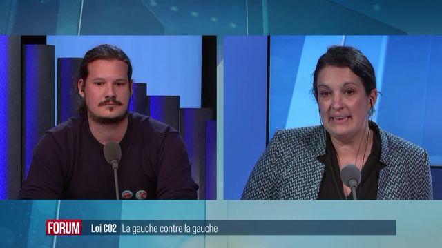 La Loi CO2 divise la gauche : débat entre Delphine Klopfenstein-Broggini et Steven Tamburini [RTS]