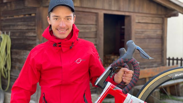 Simon Pellaud vit son rêve de cycliste en étant 100% dans le respect des règles de son éthique. [Miguel Bao - RTS]