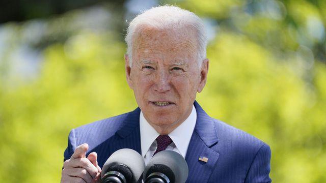 Le président américain Joe Biden en avril 2021. [Evan Vucci - AP Photo/Keystone]