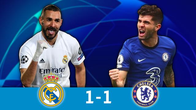 1-2 retour, Real Madrid - Chelsea (1-1): le Real s'en sort bien grâce à Benzema