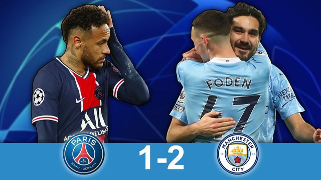 1-2 aller, PSG - Man.City (1-2): les Anglais retournent la situation à leur avantage [RTS]
