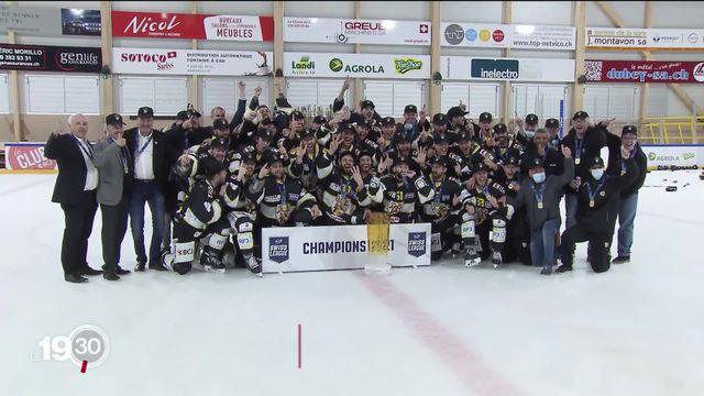 Hockey sur glace: le HC Ajoie fait son retour dans la cour des grands. [RTS]
