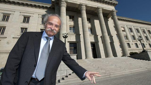 Giorgio Ghiringhelli devant le Tribunal fédéral pour une autre affaire en novembre 2011. [Laurent Gilliéron - Keystone]