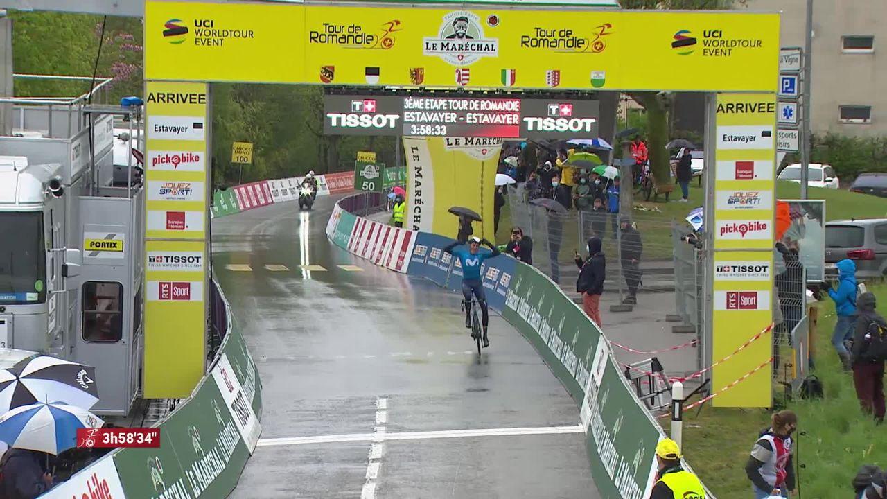 3e étape, Estavayer: Marc Soler (ESP) s'impose et prend le maillot jaune ! [RTS]