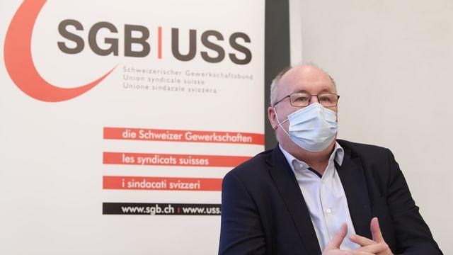 La pandémie du coronavirus a mis en lumière et accru les inégalités, rappelle l'Union syndicale suisse à l'occasion du 1er Mai, journée des travailleuses et des travailleurs. Des actions syndicales sont prévues ce samedi dans toute la Suisse. [ANTHONY ANEX - KEYSTONE]