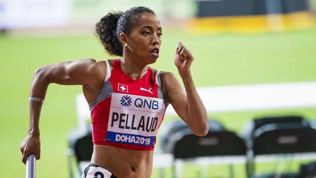 Rachel Pellaud et les Suissesses n'ont pas réussi à se hisser en finale du 4x400 m à Chorzow. [Jean-Christophe Bott - Keystone]