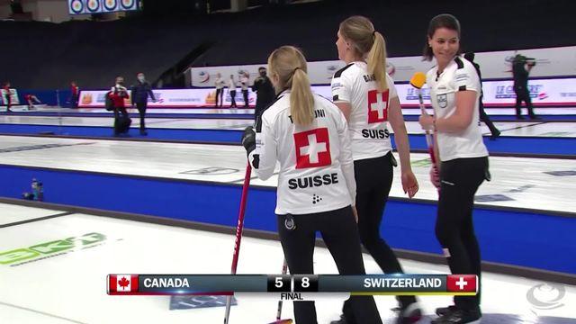 Curling: Championnat du monde 2021, les suissesses battent les canadiennes [RTS]