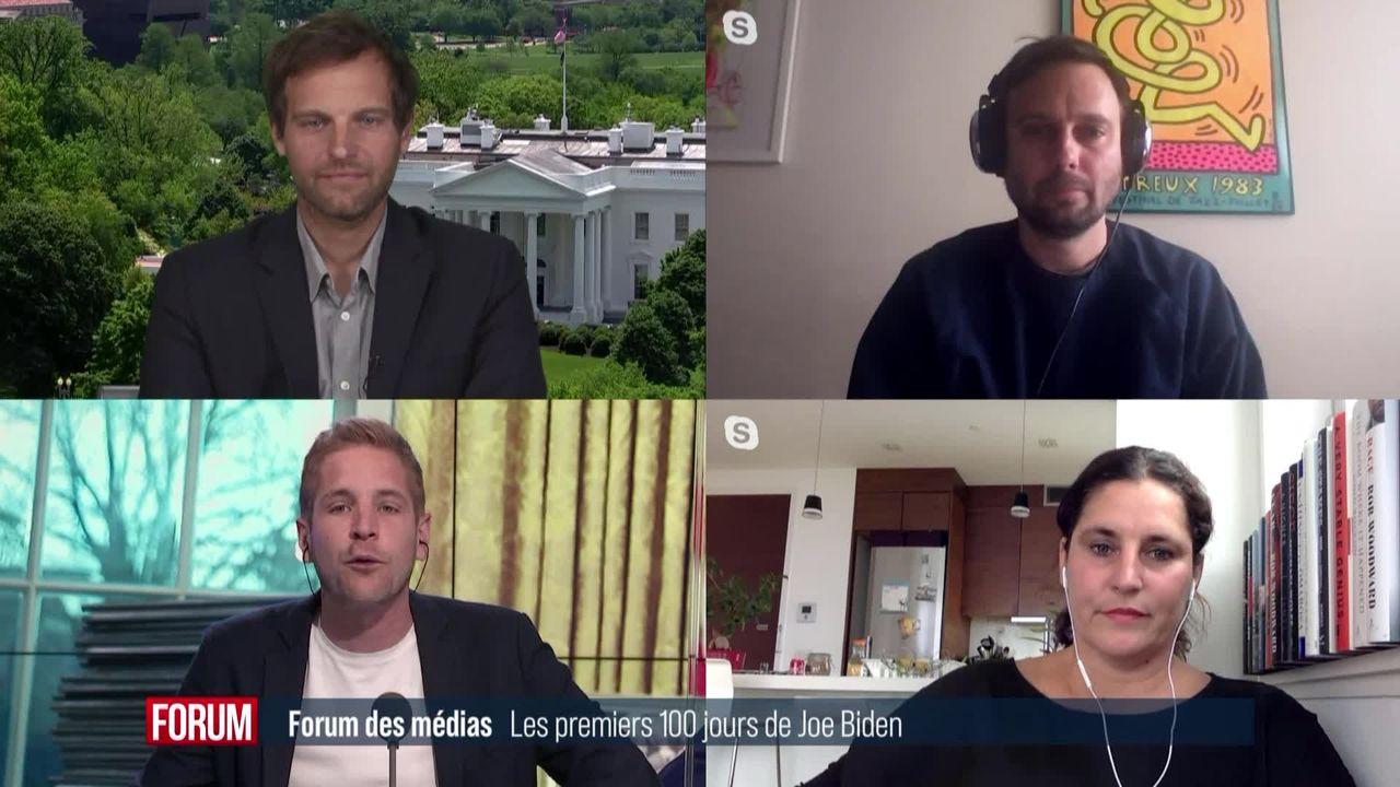 Forum des médias (vidéo) - Le bilan des 100 premiers jours de la présidence de Joe Biden [RTS]