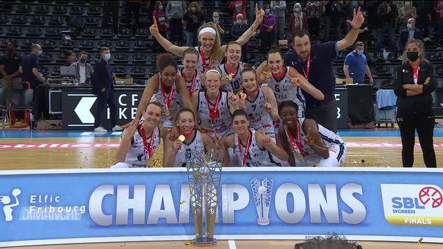 Basket: les elfes de Fribourg championnes de Suisse [RTS]