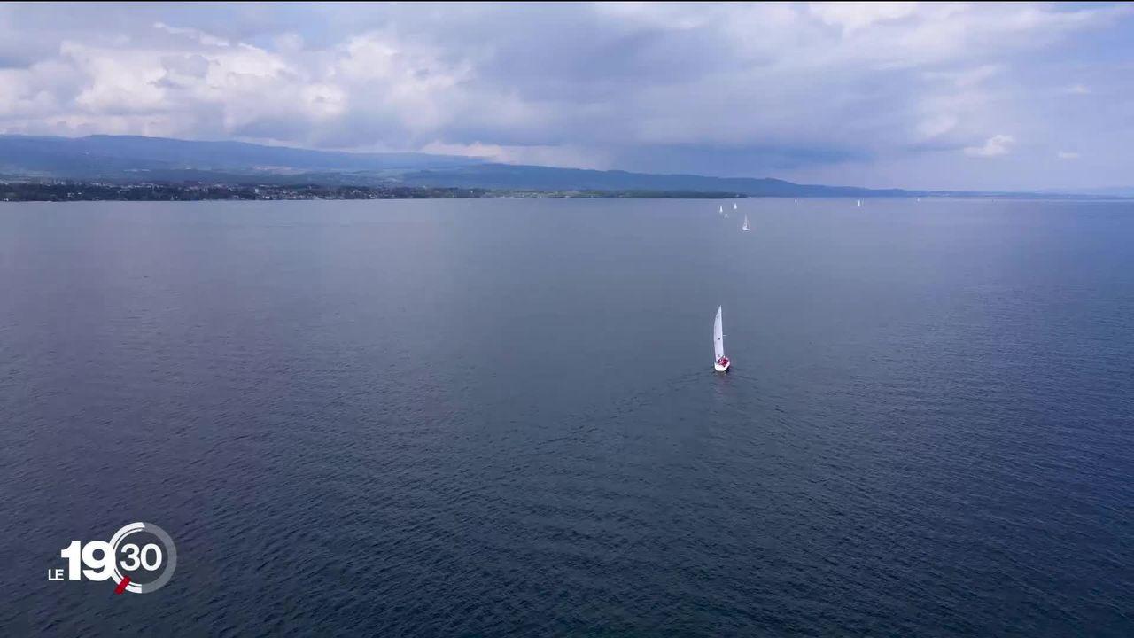 Léman: 250 bateaux s'alignent pour symboliser la frontière franco-suisse [RTS]