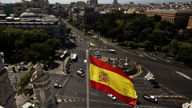 Une vue de Madrid. [AP Photo/Daniel Ochoa de Olza - Keystone]