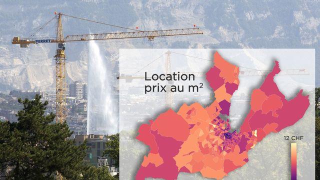 A Genève, les loyers sont très variables selon les quartiers et communes. [RTS]