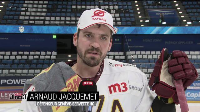 Finale, Acte I, Zoug - Genève (1-0): Jacquemet à l'interview après la défaite [RTS]
