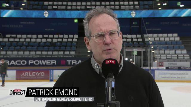 Finale, Acte I, Zoug - Genève (1-0): Emond revient sur le match au micro de RTSsport [RTS]