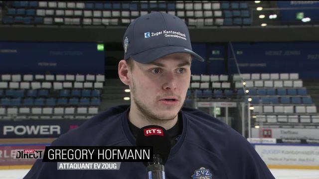 Finale, Acte I, Zoug - Genève (1-0): Le buteur Hofman à l'interview [RTS]
