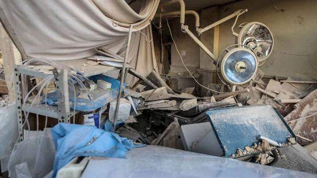 Un hôpital pris pour cible à Alep en Syrie en mars 2021. [Ministry of National Defence of / ANADOLU AGENCY / Anadolu Agency via AFP]