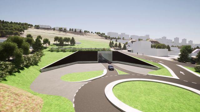 La pièce maîtresse du contournement de La Chaux-de-Fonds sera un tunnel de 1,2 kilomètre. [République et Canton de Neuchâtel/YouTube]