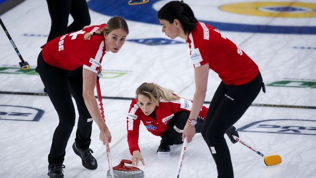 Les Suissesses se sont bien reprises après leur échec contre la Suède. [Jeff McIntosh - Keystone]