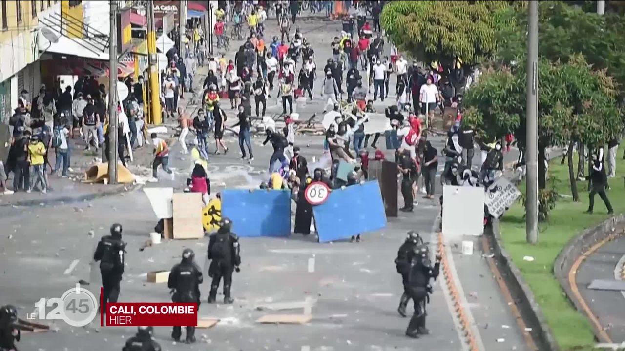 La communauté internationale dénonce la violence de la répression en Colombie [RTS]