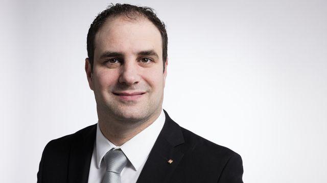 Michaël Buffat, vice-chef du groupe UDC au Parlement. [Gaetan Bally - Keystone]