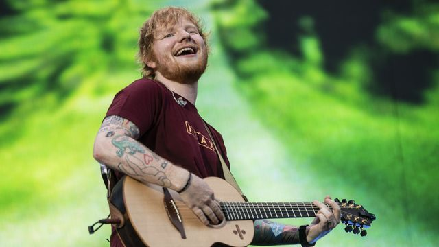 Ed Sheeran, une star planétaire au chevet d'Ipswich Town. [Ennio Leanza - Keystone]